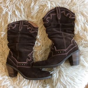 Western boots Report leather suede brown 7.5 women
